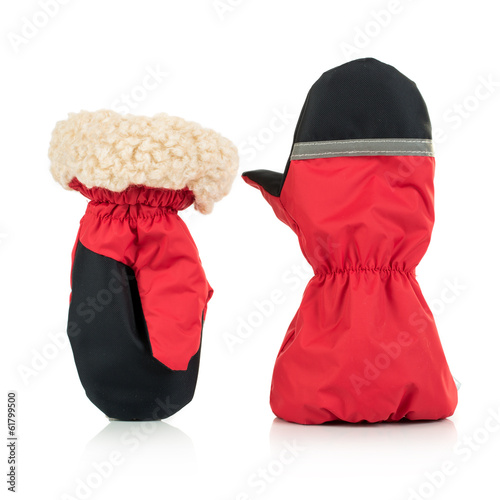 Children's autumn-winter mittens
