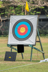 one archery target
