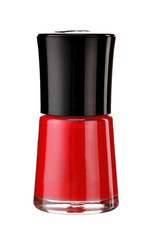 Red nail varnish bottle