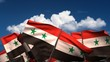 Waving Syrian Flags