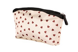 Heart shape textured cosmetic bag