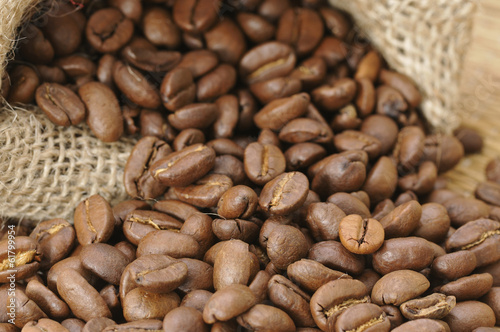 canvas print picture Kaffeebohnen