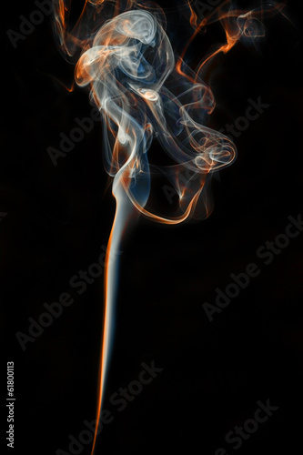 color abstract smoke isolated black background