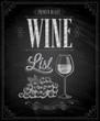 Vintage Wine List Poster - Chalkboard.