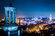 Night view from Calton Hill to Edinburgh