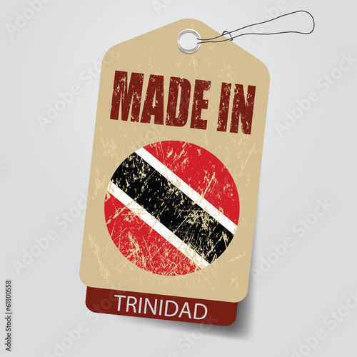 Made in  Trinidad  . Tag .
