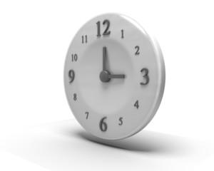 Orologio isolato su bianco