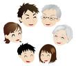 笑う三世代家族