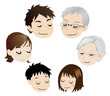満足な三世代家族
