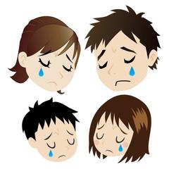 悲しむ核家族