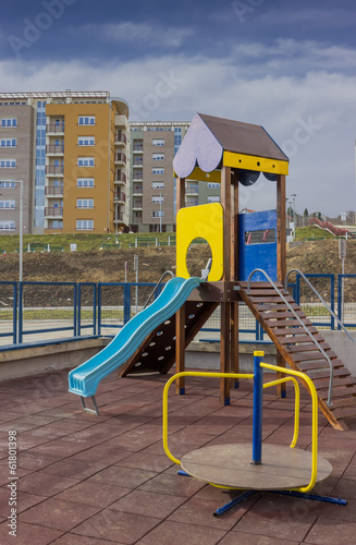Playground equipment in the urban place