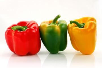 Papryka czerwona, żółta, zielona