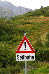 Vorsicht Seilbahn