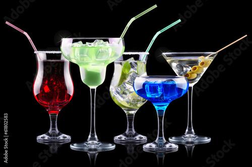 Fototapeta alcohol cocktail set