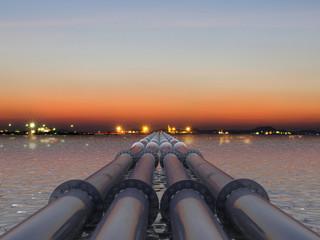 pipeline on the sea