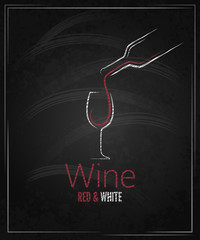wine glass chalkboard menu background
