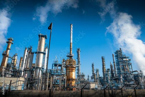 Fotobehang Industrial geb. raffineria
