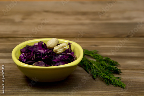 nuts and salad