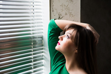 Girl posing in the window