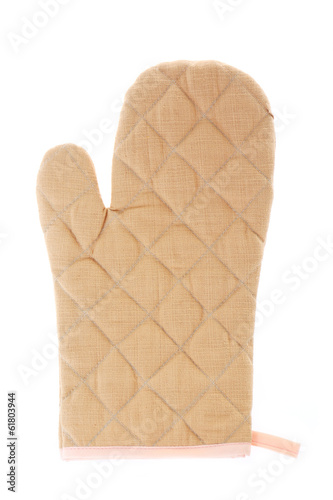 Kitchen gloves isolated on a white background