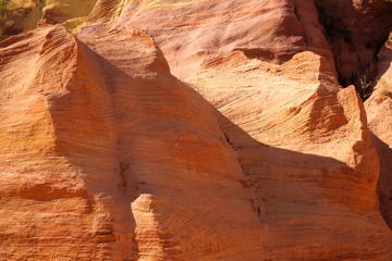 roussilion provenza francia rocce d'ocra