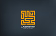 Logo Labyrinth vector icon design. Puzzle rebus concept