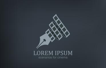 Logo Scenarios for cinema vector icon design