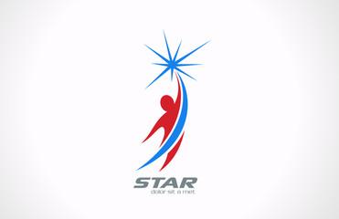 Logo Sport Fitness Business Corporate vector icon design