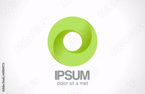 Logo Infinity Zielona pętla Koło streszczenie wektor ikona