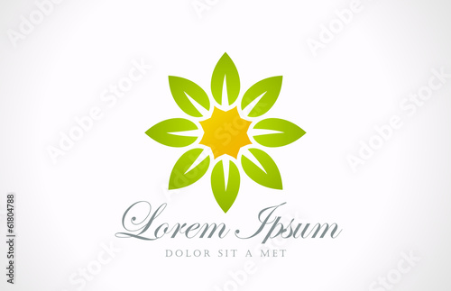 Logo Flower abstract vector icon design. Garden symbol