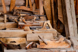 Old rusty woodworking tools