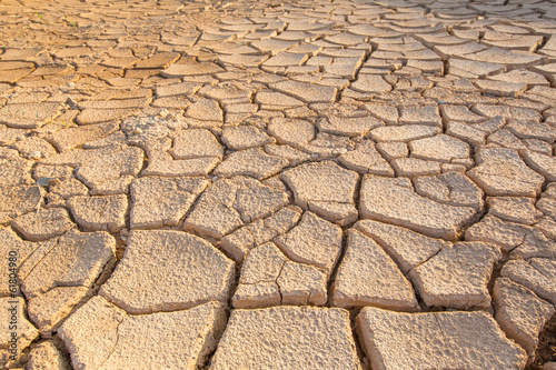 Parched soil during drought and dry season