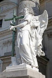 Vienna, Karlskirche. Sculpture of angel