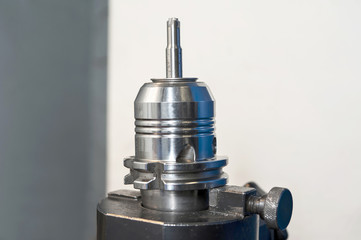 Radial mill CNC tool. Closeup.