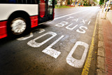 Bus in bus lane.