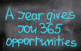 A year Gives You 365 Opportunities Concept