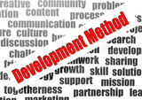 Development method word cloud