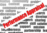 Performance appraisal word cloud poster