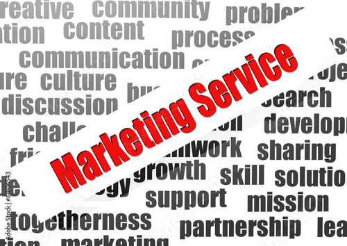 Marketing service word cloud