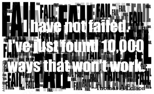 edison quote on failure is the path to success