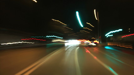 Car pov timelapse by night. Find similar in our portfolio