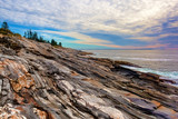 The rock ledges of Pemaquid Point, Maine
