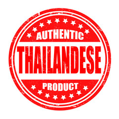 Authentic thailandese product stamp