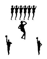 chorus line dancers