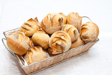 Crusty bread rolls