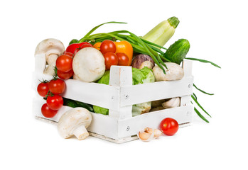 Fresh vegetables in box