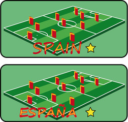 Spain Soccer vector