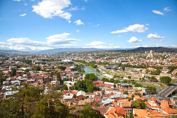 view of Tbilisi, Georgia, August 4, 2013, editorial image