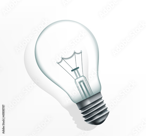 incandescent lamp on a white background