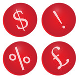 Red Finance Icons